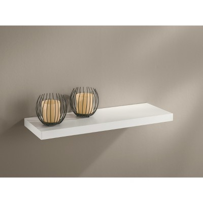24  x 8  x 1.25  Slim Boy Board Wall Shelf White - Dolle Shelving