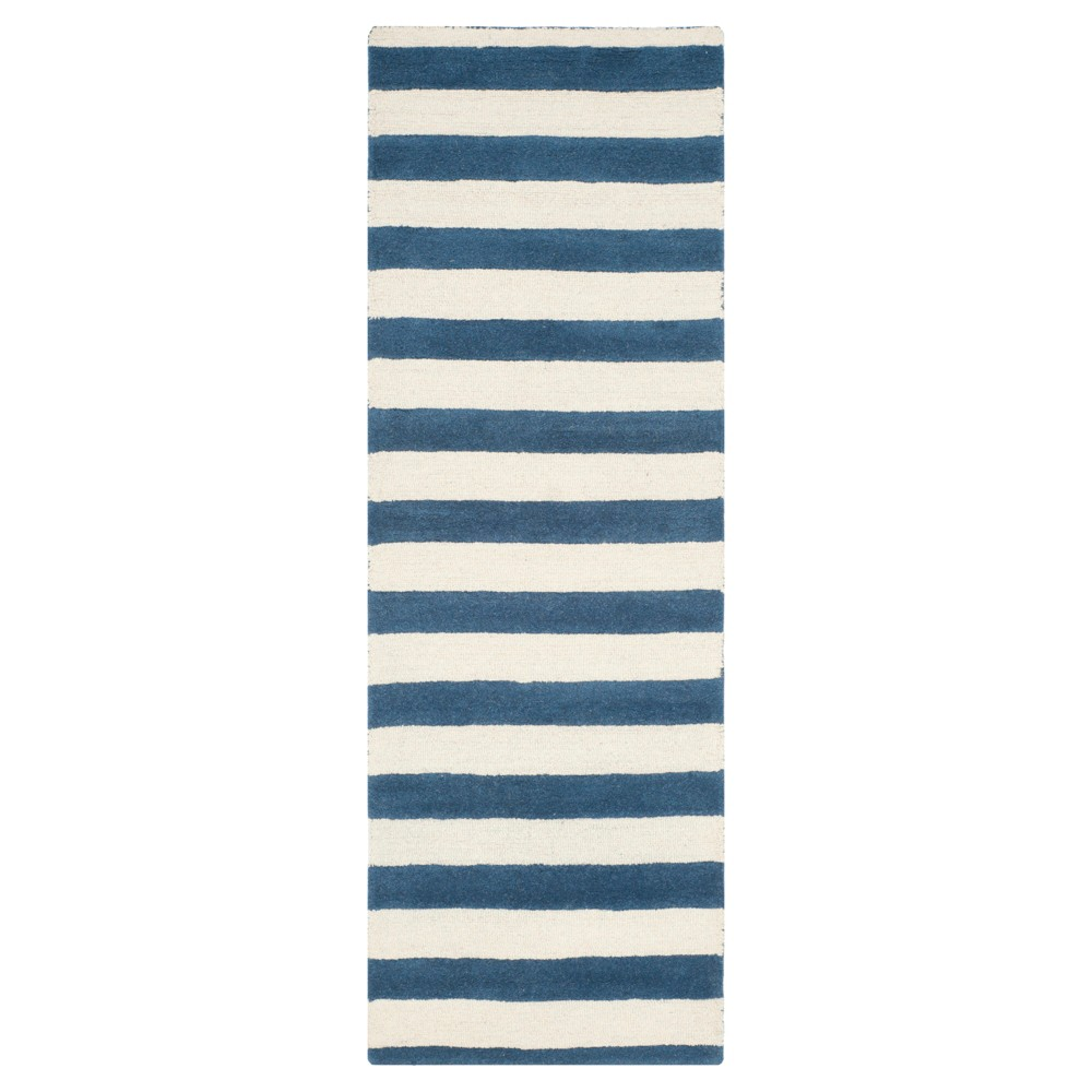 Winslow Runner - Navy/Ivory (Blue/Ivory) (2' 6 x 8') - Safavieh