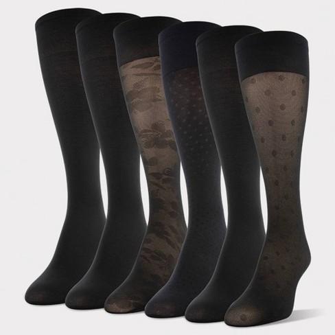 Women's Peds 6pk Light Opaque Trouser Socks : Target