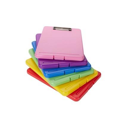 Mind Reader 6pk Plastic Clipboard Letter Storage Brights