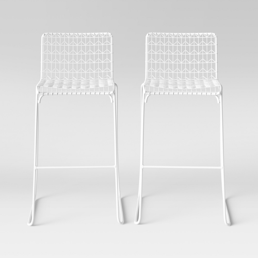 Set of 2 Oster Wire Barstool White - Project 62