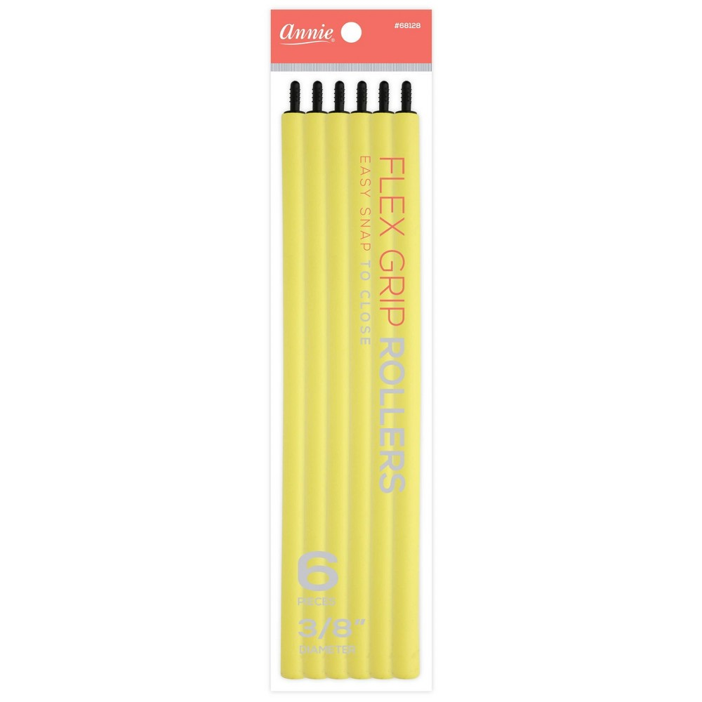 Image of Annie Flex Grip Yellow Rollers - 6ct