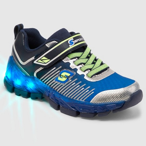 7d1a391f3e46 Boys  S Sport By Skechers Nenzo Light Up Athletic Shoes - Blue   Target