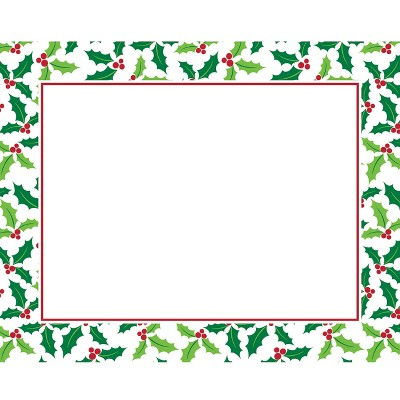 12ct Holly Placemats Green