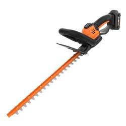 Worx WG261 20 Volt Power Share Cordless Battery 22 Inch Hedge Trimmer, Orange