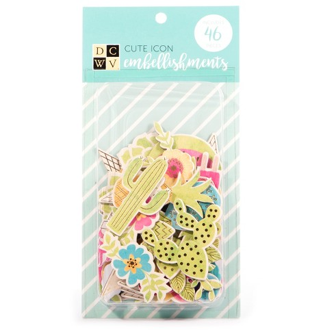 DCWV® Paper Icon Embellishments, 46ct - image 1 of 1
