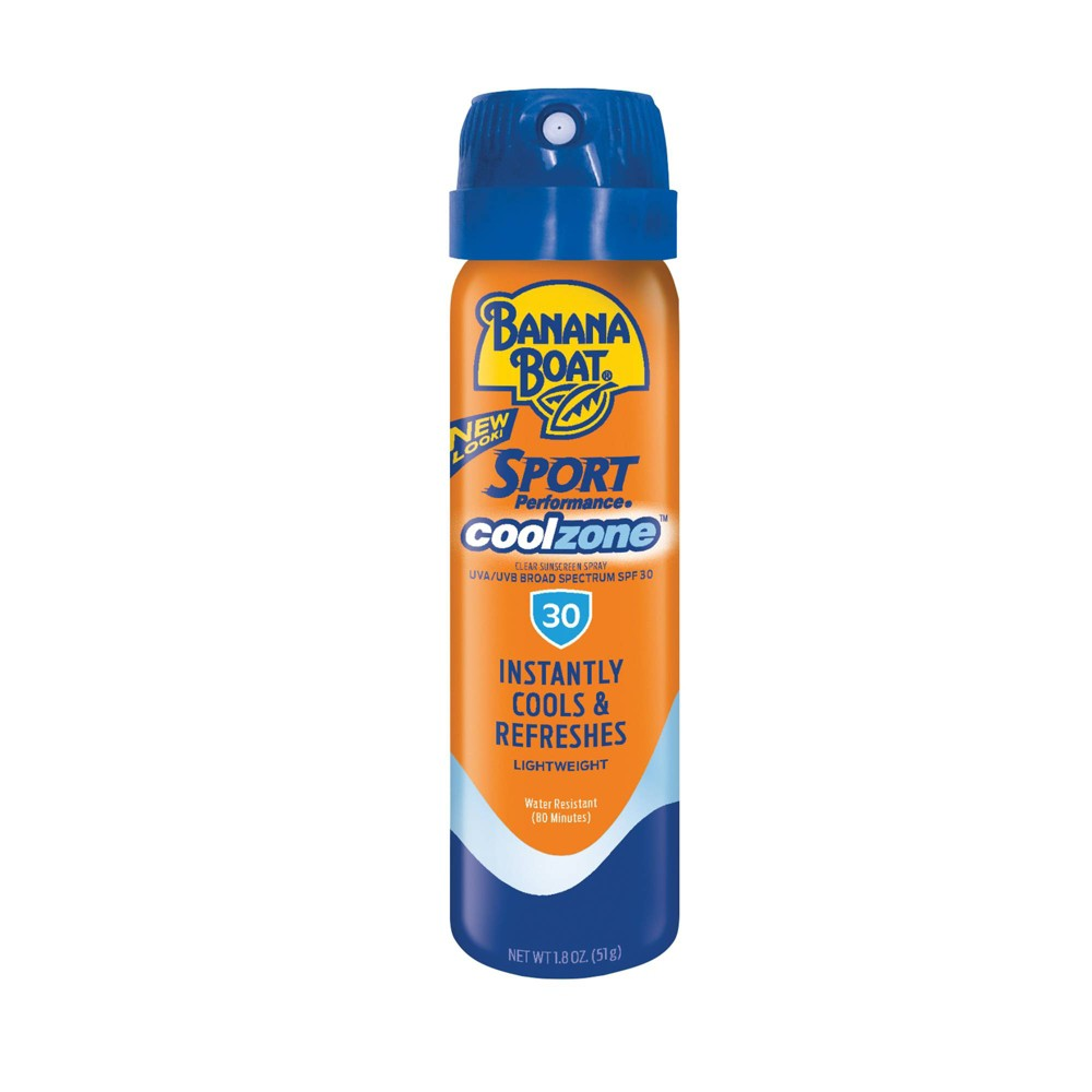 Image of Banana Boat Sport CoolZone Clear Sunscreen Spray - SPF 30 - 1.8oz