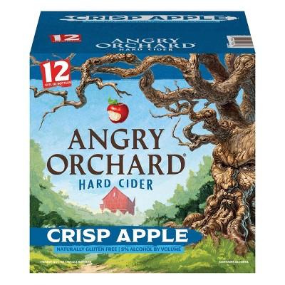 Angry Orchard Crisp Apple Hard Cider - 12pk/12 fl oz Bottles