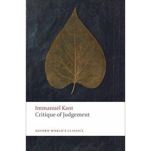 Critique of Judgement - (Oxford World's Classics (Paperback)) by  Immanuel Kant (Paperback) - image 1 of 1
