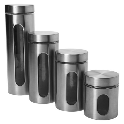 kitchen canisters online anchor hocking pallaida window canister set of 4 target 12968