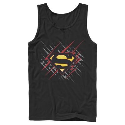 Men's Superman Logo Lightning Tank Top