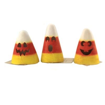 "Halloween 3.5"" Candy Corn Luminary Face Cutouts  -  Decorative Figurines"