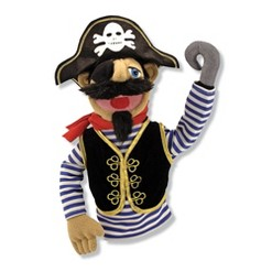 Melissa & Doug Pirate Puppet With Detachable Wooden Rod
