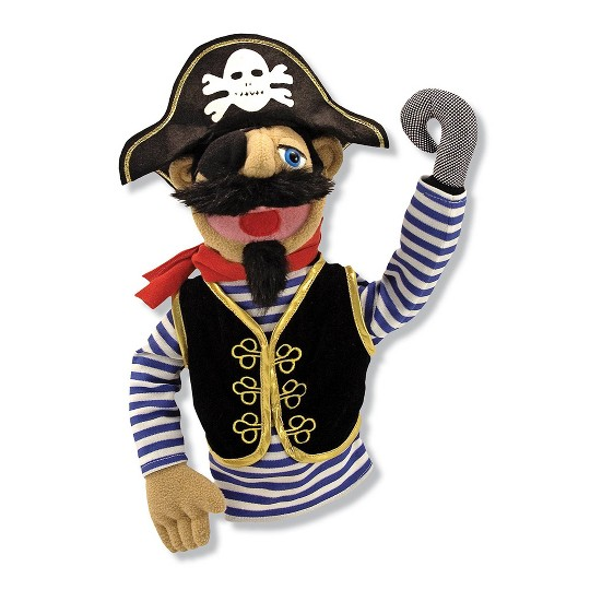 Melissa & Doug Pirate Puppet With Detachable Wooden Rod image number null