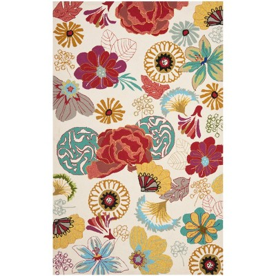 Floral Accent Rug Blue/Red - Safavieh