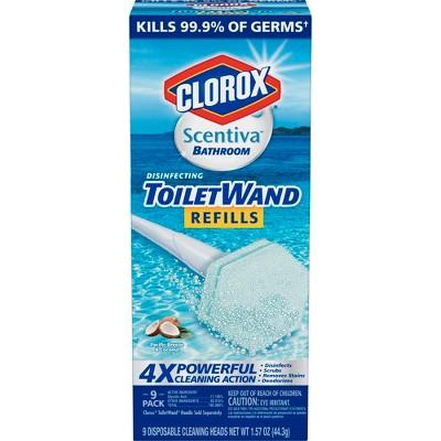 Clorox Scentiva Coconut Toilet Wand Refill - 9ct