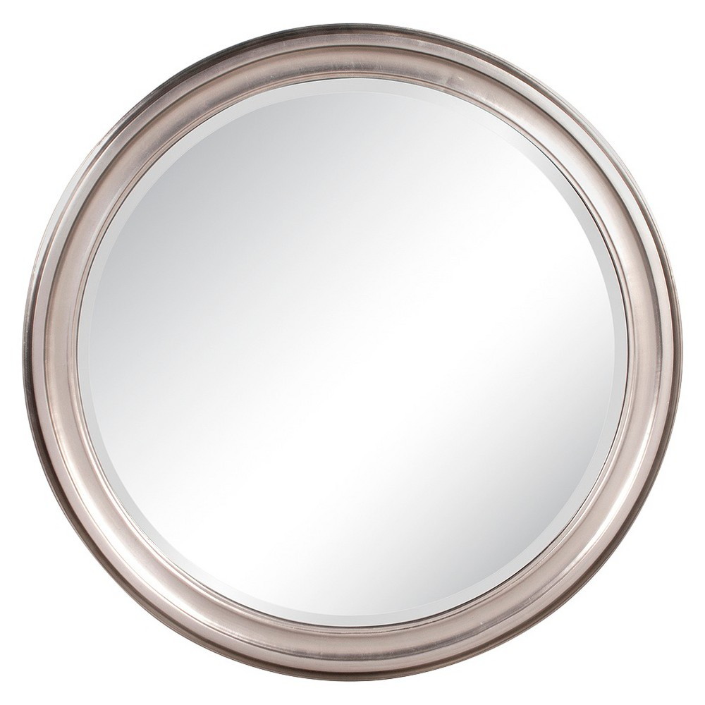 Round George Decorative Wall Mirror Silver - Howard Elliott, Light Silver