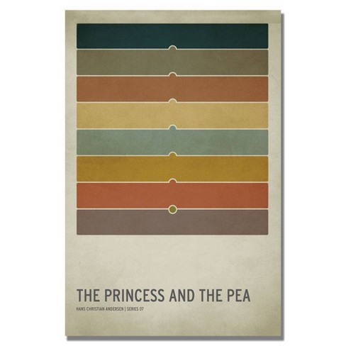 """16"""" x 24"""" The Princess and the Pea by Christian Jackson - Trademark Fine Art - image 1 of 4"""