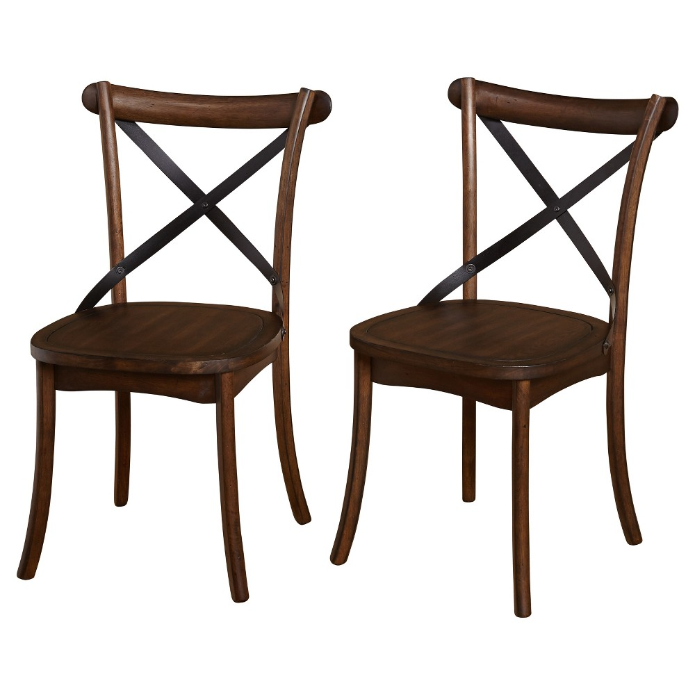 Constance Dining Chair (Set Of 2) - Dark Walnut (Brown) - Target Marketing Systems
