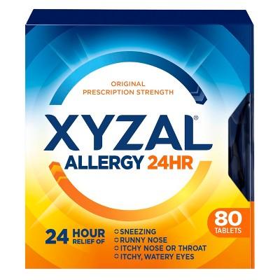 Xyzal Allergy Relief Tablets - Levocetirizine Dihydrochloride - 80ct