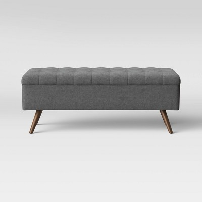 Arthur Tufted Storage Bench Gray - Project 62™