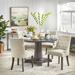 5pc Ariane Dining Set - Gray - Angelo:Home