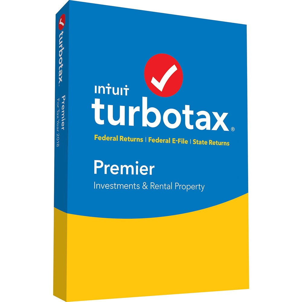 Intuit Turbotax Premier Federal + State 2018 PC Esd Download