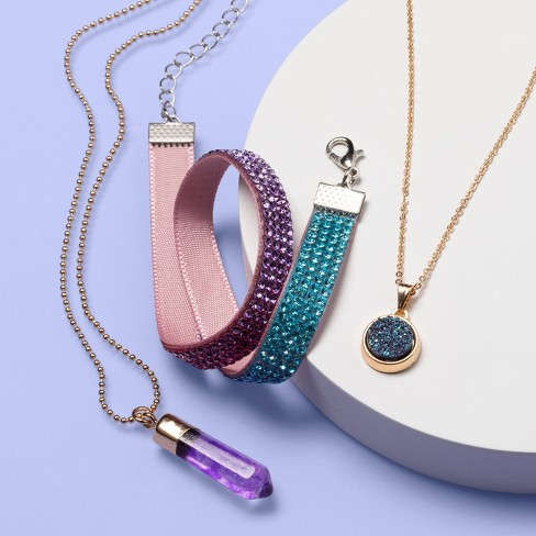 Girls' 3pk Layered  Necklace Set - More Than Magic™ Ombre - image 1 of 2