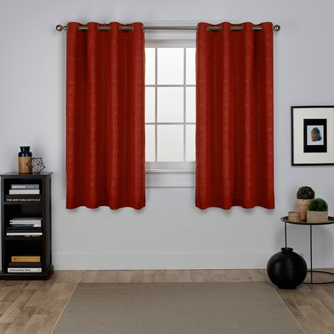 Exclusive Home Oxford Textured Sa Thermal Room Darkening Grommet Top Window Curtain Panel Pair
