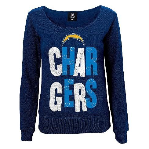 ff88ac7ba9c Los Angeles Chargers Girls Open Neck Fleece M : Target