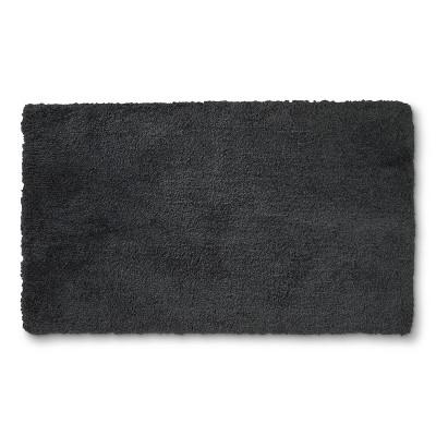 34 x20  Tufte Spa Bath Rug Dark Gray - Fieldcrest®