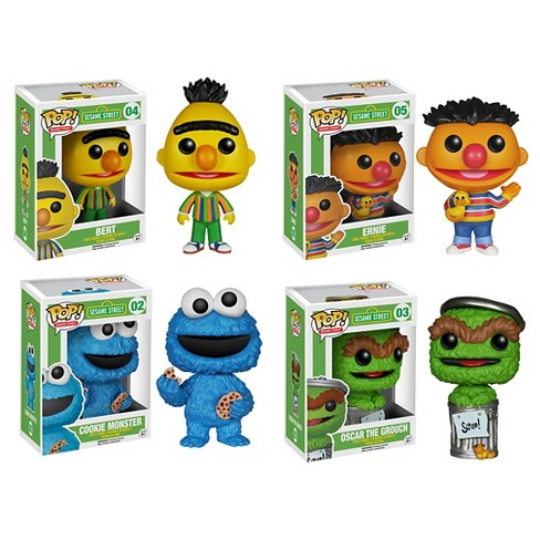Funko Sesame Street POP! TV Vinyl Collectors Set: Bert, Ernie, Cookie Monster, and Oscar the Grouch - image 1 of 5