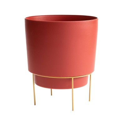 Hopson Planter with Metal Stand - Bloem