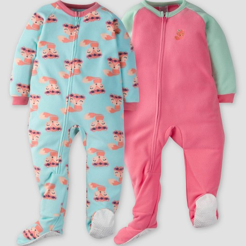 8919b718ee Gerber® Toddler Girls  2pk Fox Micro Fleece...   Target