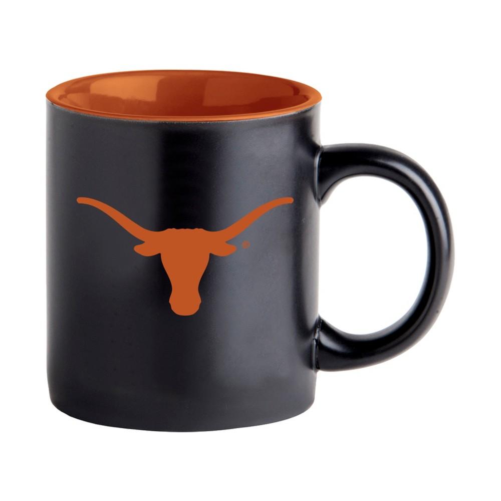 NCAA Texas Longhorns Black Matte Mug