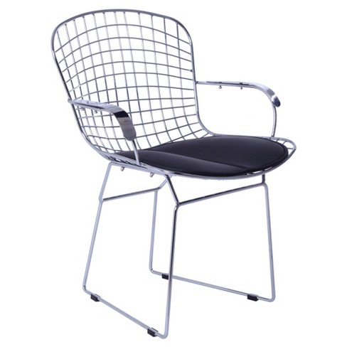 Wire Arm Dining Chair - Black - Fine Mod Imports - image 1 of 4