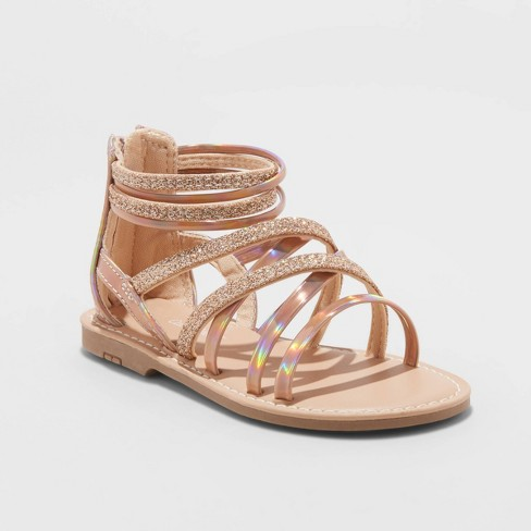 Toddler Girls' Cami Gladiator Sandals - Cat & Jack™ Rose Gold - image 1 of 4