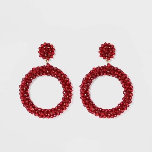 SUGARFIX by BaubleBar Lustrous Beaded Hoop Earrings - image 1 of 3