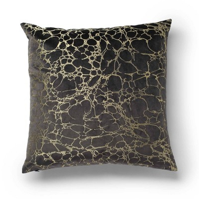 """20""""x20"""" Oversize Shattered Square Throw Pillow Gray - Sure Fit"""
