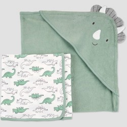 Baby Boys' Dino Bath Towel Set - Just One You® made by carter's Brown
