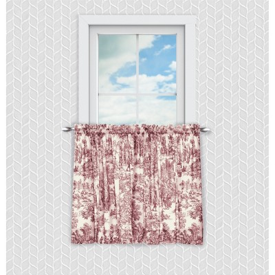 Ellis Curtain Victoria Park Toile Room Darkening Rod Pocket Window Curtain Panel with Ties