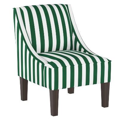 Swoop Armchair Canopy Stripe Emerald - Skyline Furniture