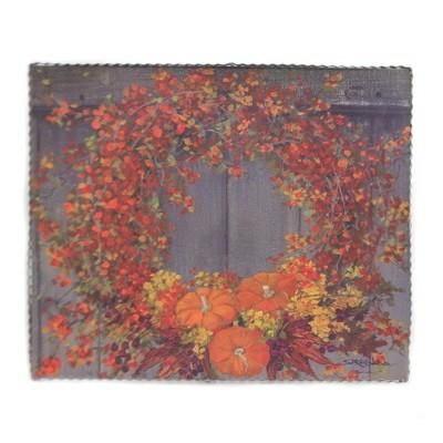 "Fall 15.5"" Gallery Bittersweet Wreath Print Autumn Pumpkins  -  Wall Sign Panels"