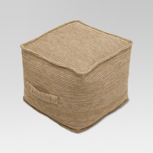 Outdoor Pouf - Natural Woven - Threshold™ - image 1 of 7