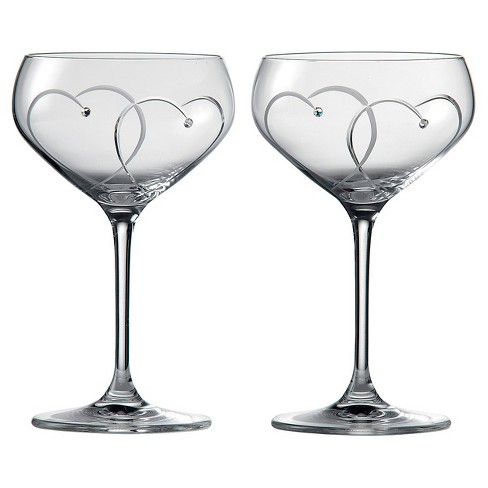 Royal Doulton 6oz Promises Two Hearts Entwined 2pk Champagne Coupes - image 1 of 2