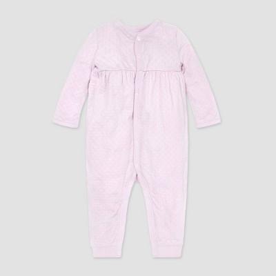 Burt's Bees Baby® Baby Girls' Honeycomb Pointelle Jumpsuit - Purple