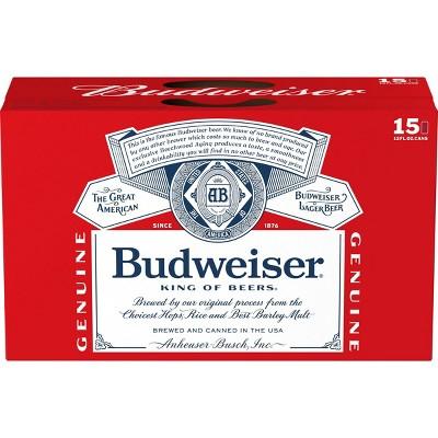 Budweiser Lager Beer - 15pk/12 fl oz Cans