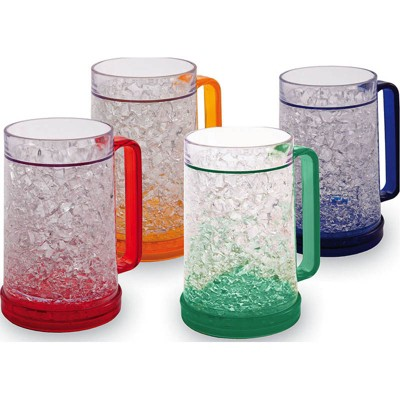 Cypress Home Double Wall Gel Freezer Mug Set Of 4