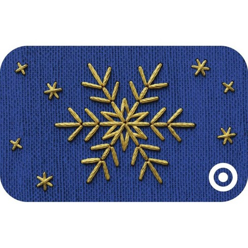 Embroidered Snowflake Target GiftCard - image 1 of 1
