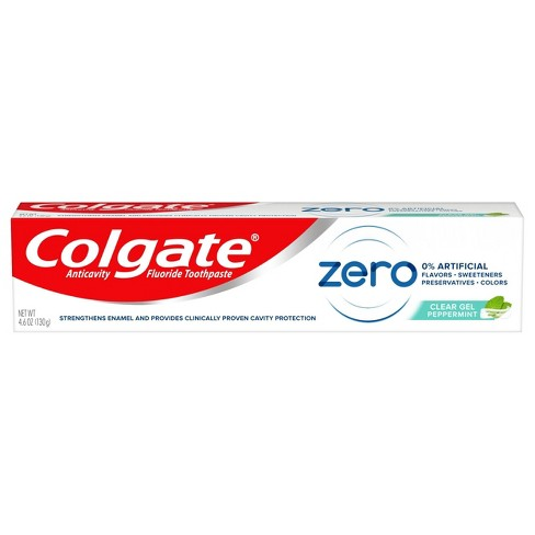 Colgate Zero Toothpaste with Fluoride - Natural Peppermint Flavor - 4.6oz - image 1 of 4